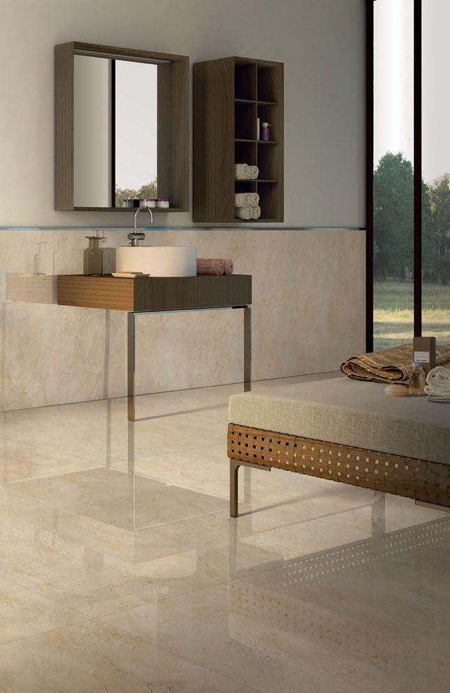 O mármore Crema Marfil pode ser usado em qualquer ambiente da casa