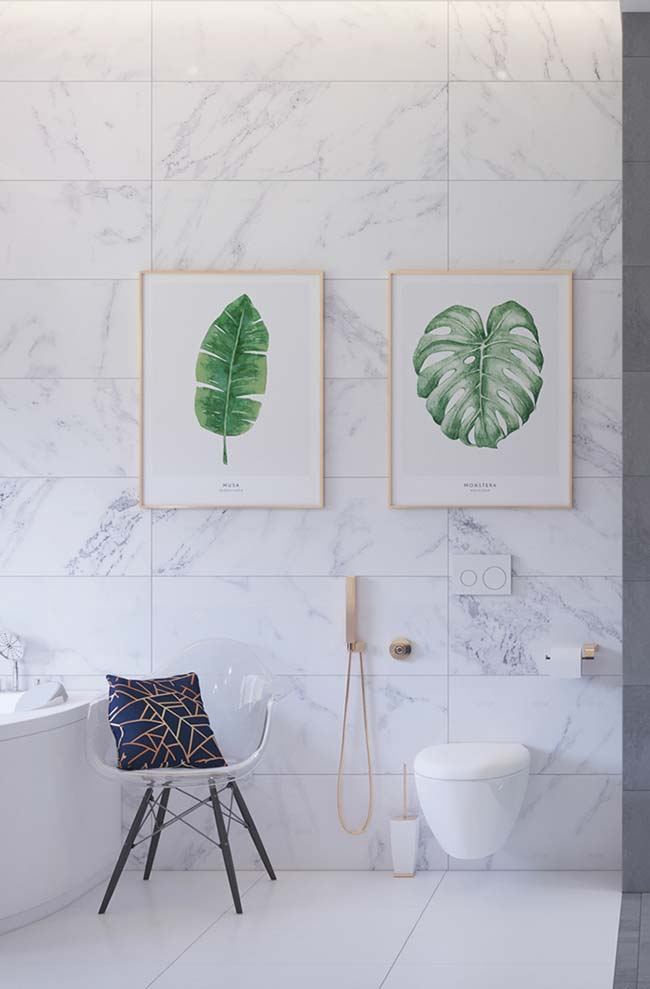 Moderno e sofisticado: mármore Piguês não economiza charme na decoração
