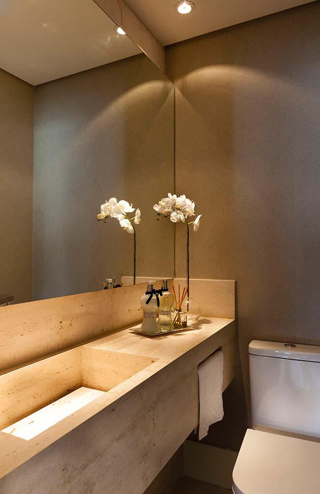 Cuba de banheiro esculpida em mármore Travertino Romano