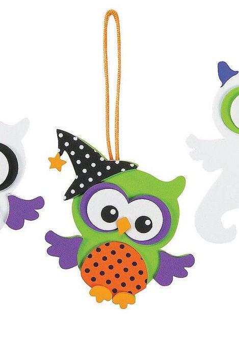 Coruja de EVA pronta para o halloween