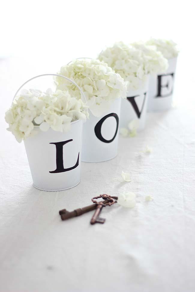 decoração de casamento faça você mesmo: flores de hortênsia