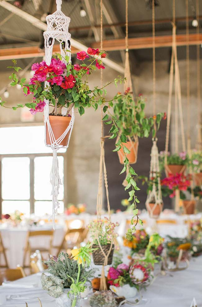 Casamento rústico com vasos de barro