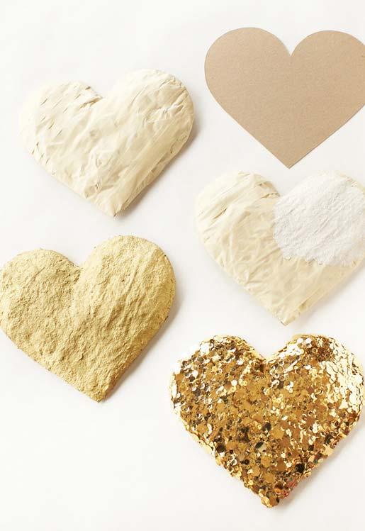 Decore seu casamento com corações de papel machê