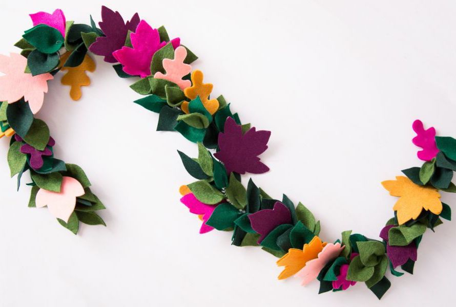 Flores de feltro para decoração de casamento DIY