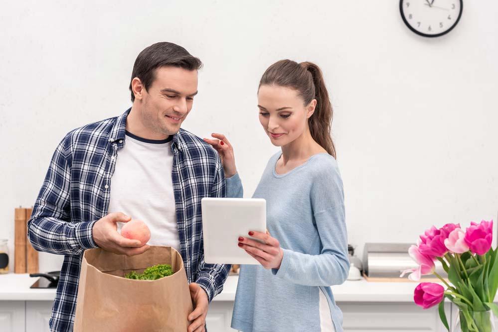 Lista de compras de supermercado para casal com filhos