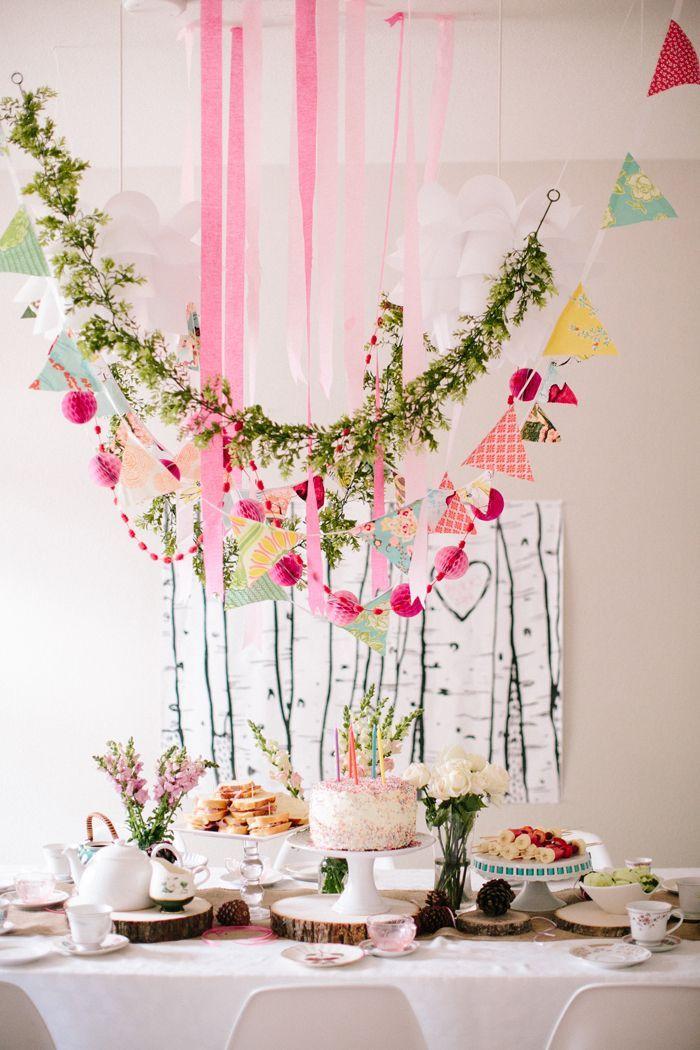 Flores marcam a celebração desse mesversário de bebê