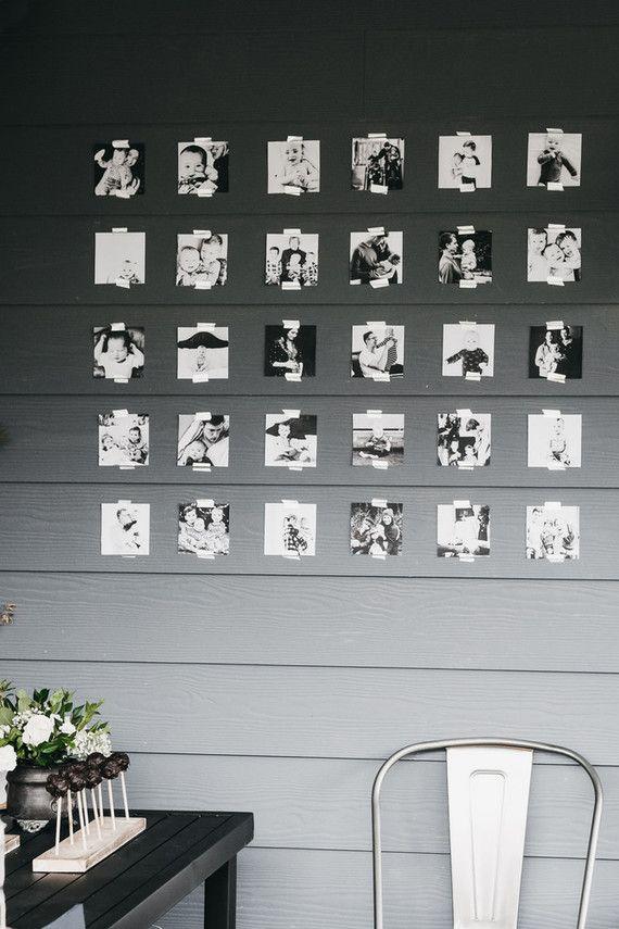 Mural de fotos para mesversário