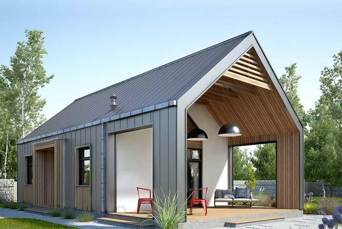 Casa pequena com telha de zinco
