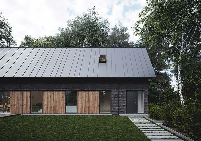 Alçapão na telha de zinco