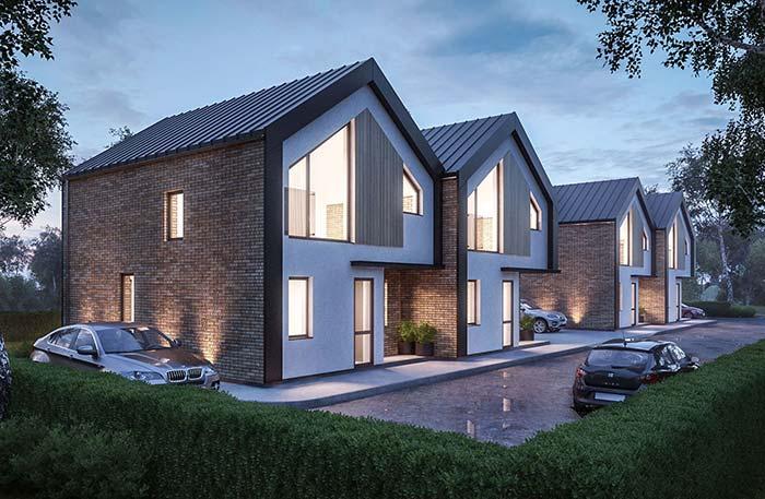 Casa construída com telha de zinco