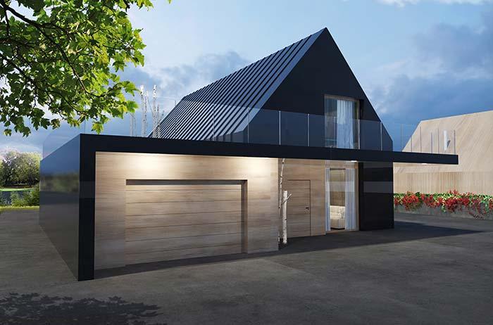 Telhado de zinco na casa