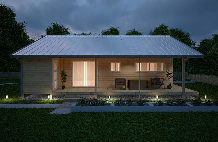 Casinha simples com telha de zinco branca