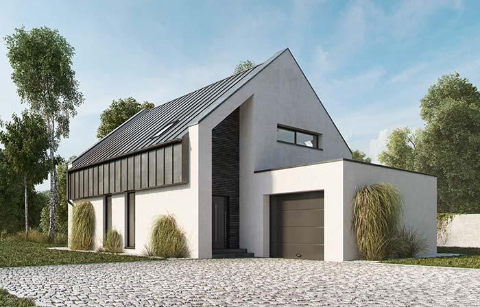 Casa com telha de zinco