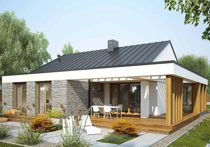 Telha de zinco em projeto arquitetônico