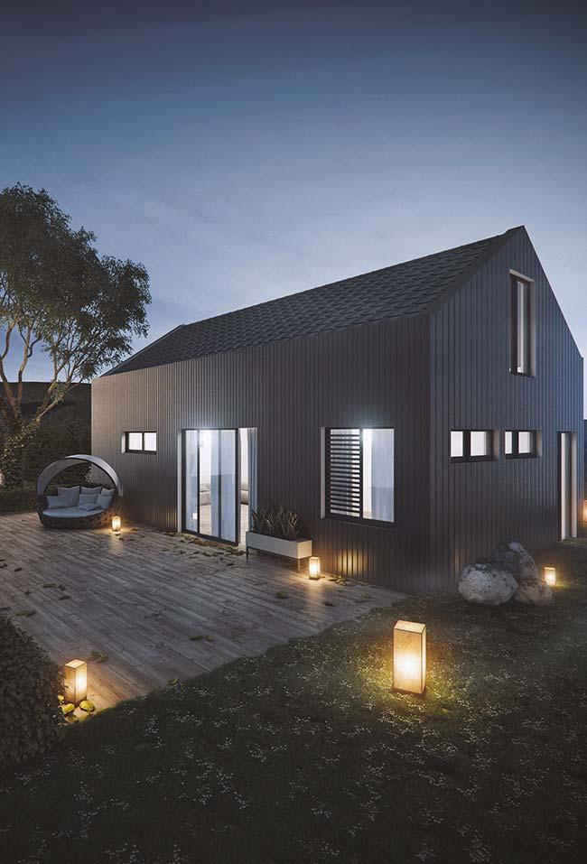Casa simples com telha de zinco
