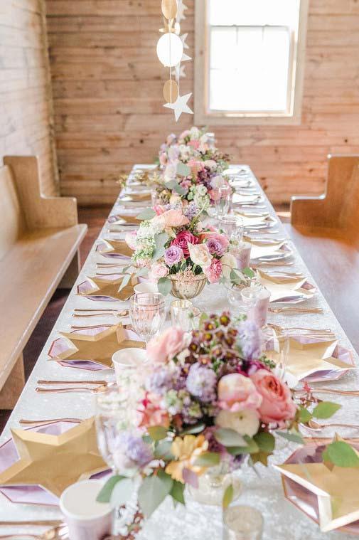 Decoração da mesa de forma especial
