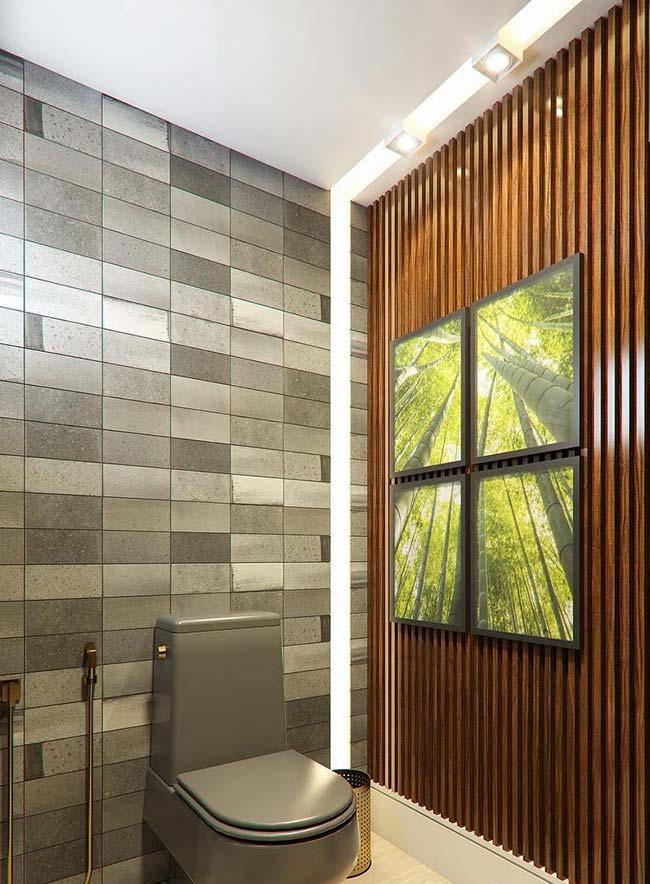 Quatro molduras na composição da parede de quadros