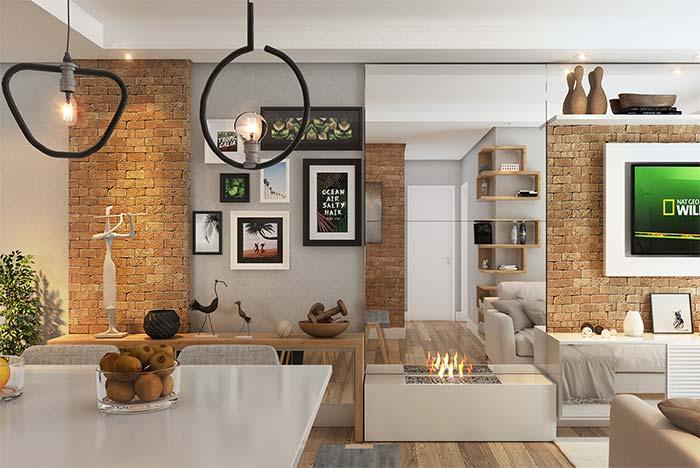 Composição de parede de quadros com molduras retangulares e quadradas