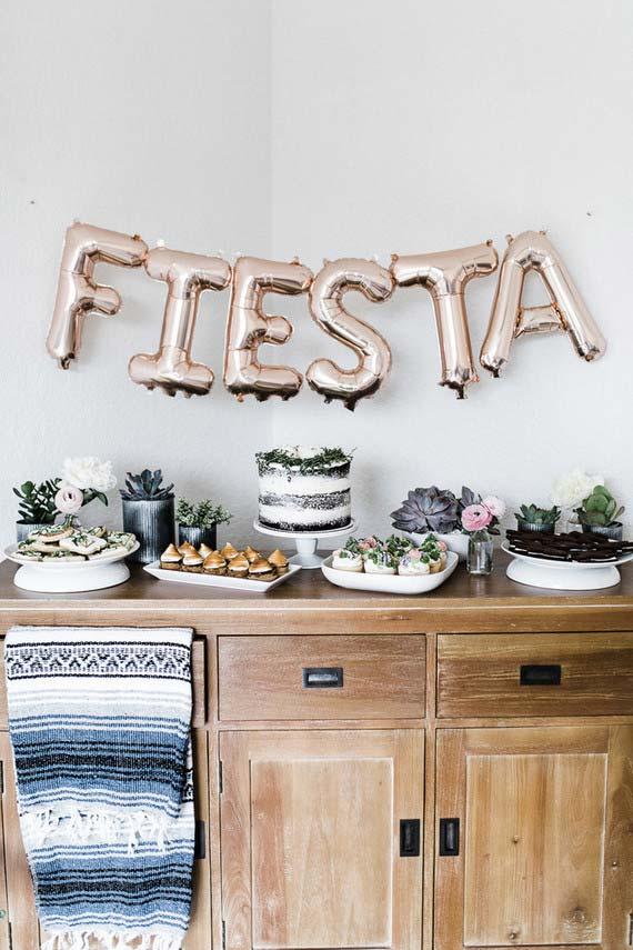 Balões de letras: use e abuse deles na decoração de casamento em casa