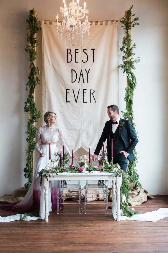 Painel de festa para casamento em casa