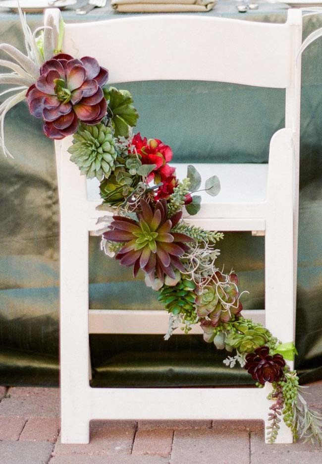 Sugestão para decoração de festas e casamentos com suculentas