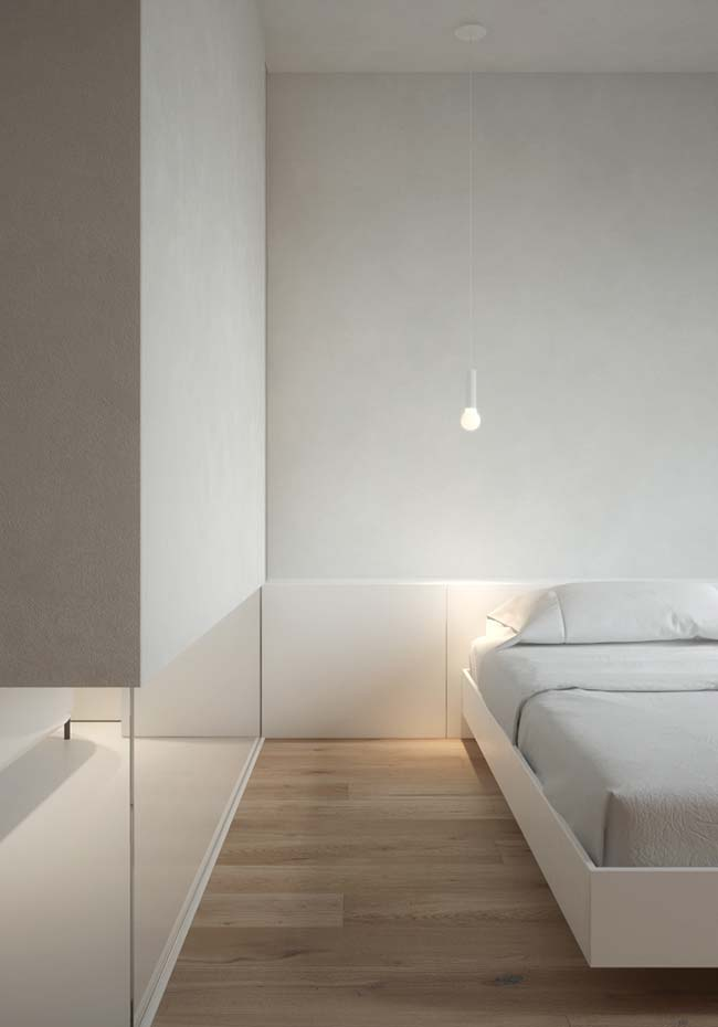 O cimento queimado branco é uma maneira interessante e diferente de texturizar a parede