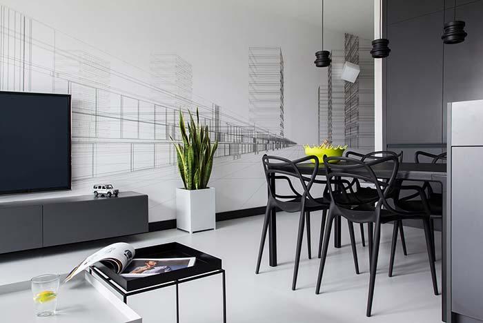 Se a intenção é criar um ambiente com uma sensação maior de espaço, o piso de cimento queimado branco é uma ótima opção