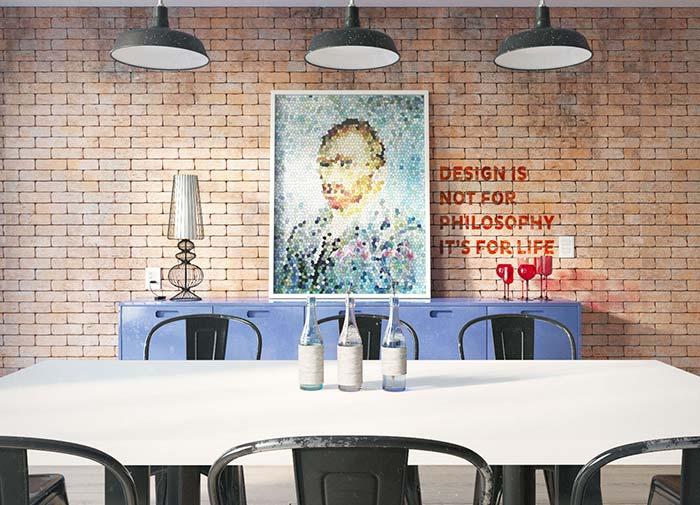 Enfeites de mesa para decoração moderna