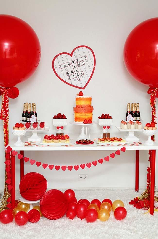 Festa de Noivado Simples Como Organizar e 60 Ideias de Decoraç u00e3o -> Decoração De Noivado
