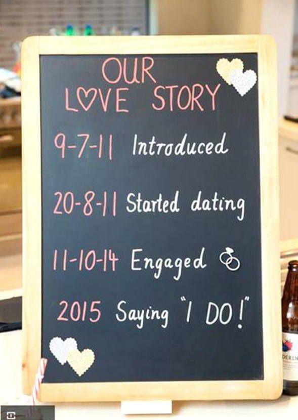 Lousa: uma ideia simples para festa de noivado