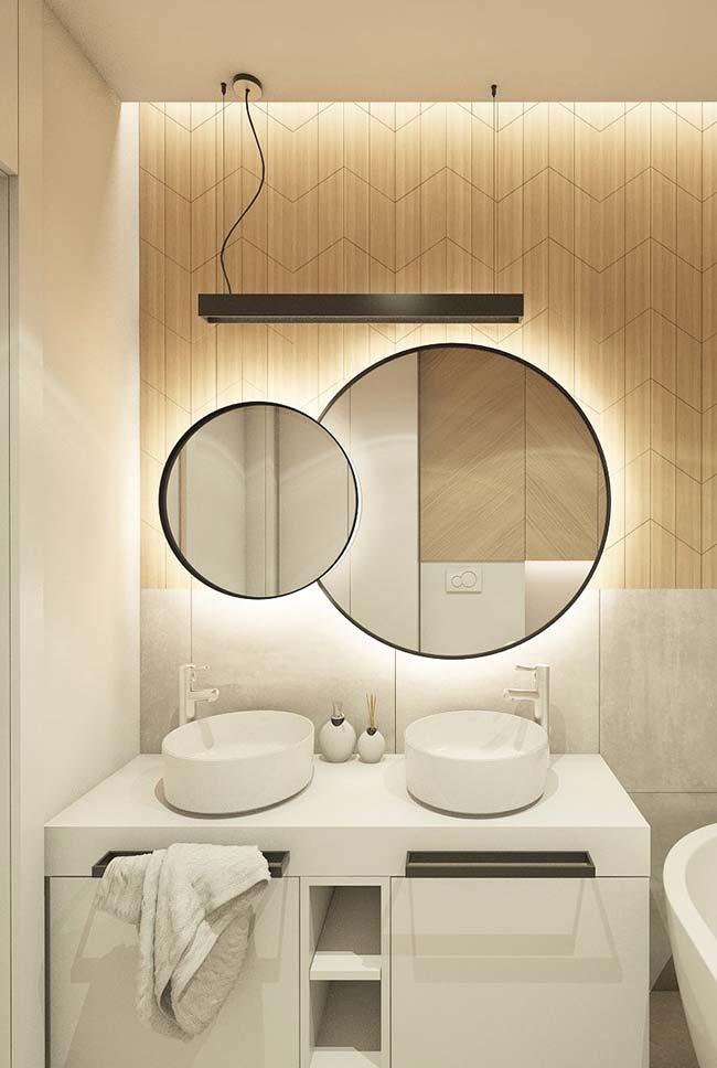 Espelho redondo na decoração moderna