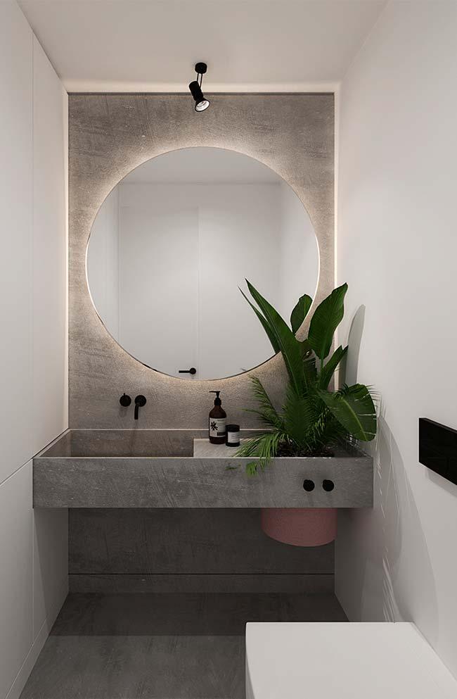 Banheiro com decoração no estilo moderno