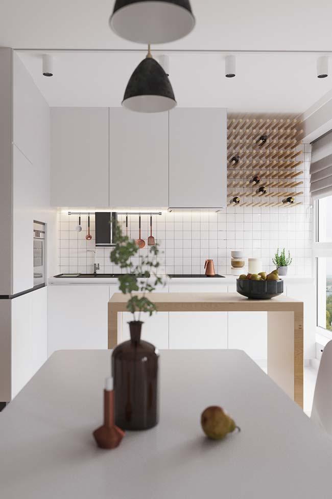 Armário de cozinha com estilo moderno