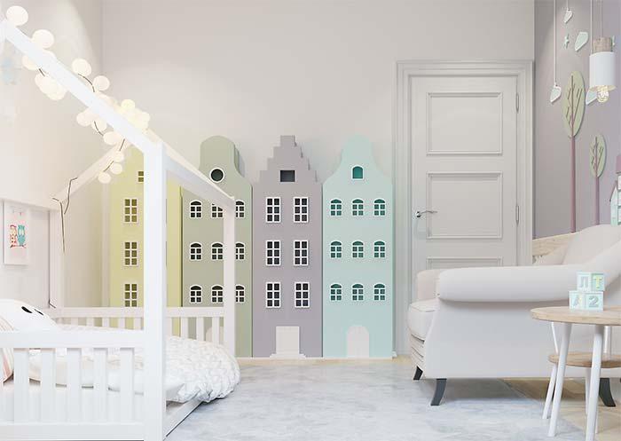 Quarto infantil com decoração moderna e montessoriana