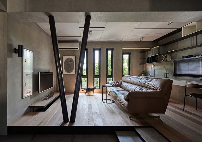 Sala com decoração moderna