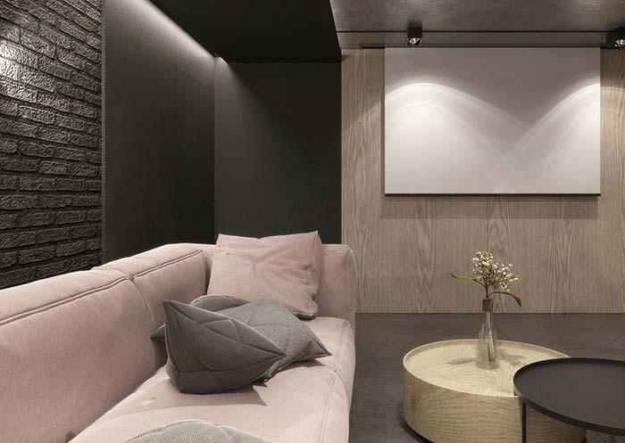 Sala moderna e minimalista