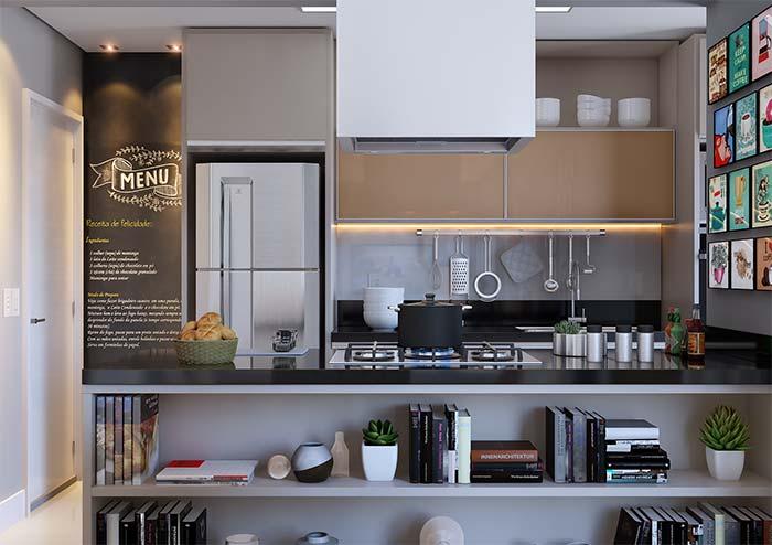 Cozinha moderna com uma pitada de descontração e jovialidade