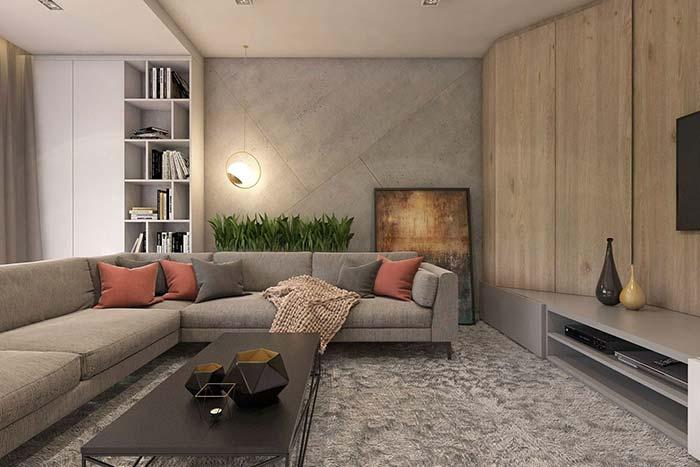 Use cor nos detalhes da decoração moderna
