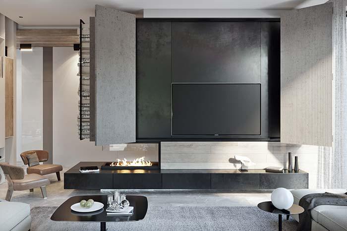 Decoração moderna: ardósia preta é muito mais barata que mármore ou granito