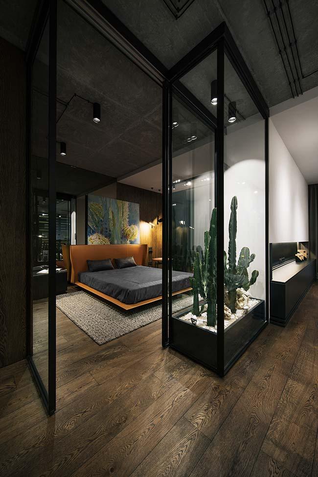 Preto e vidro na decoração moderna