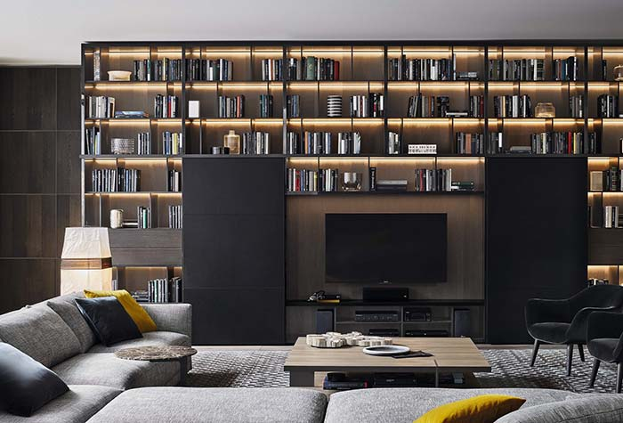 Decoração moderna com livros