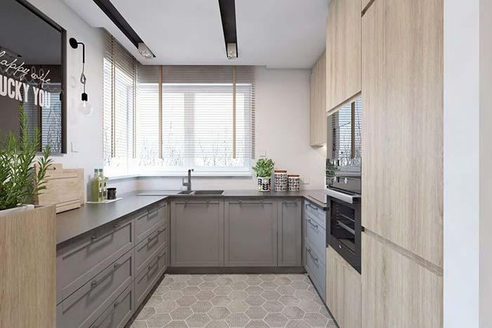 Cozinha com decoração moderna