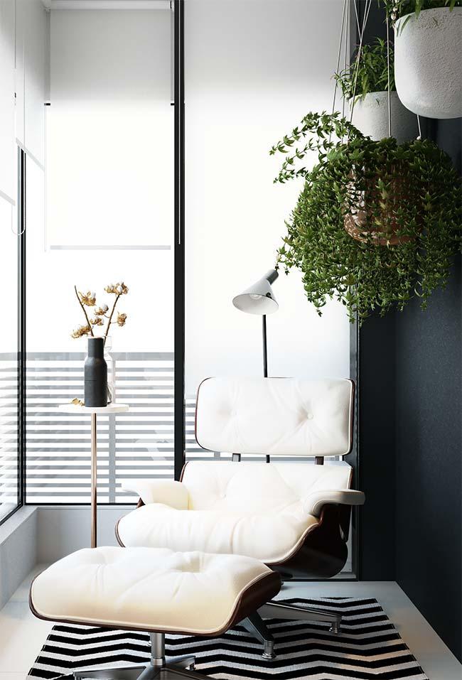 Varanda com decoração moderna