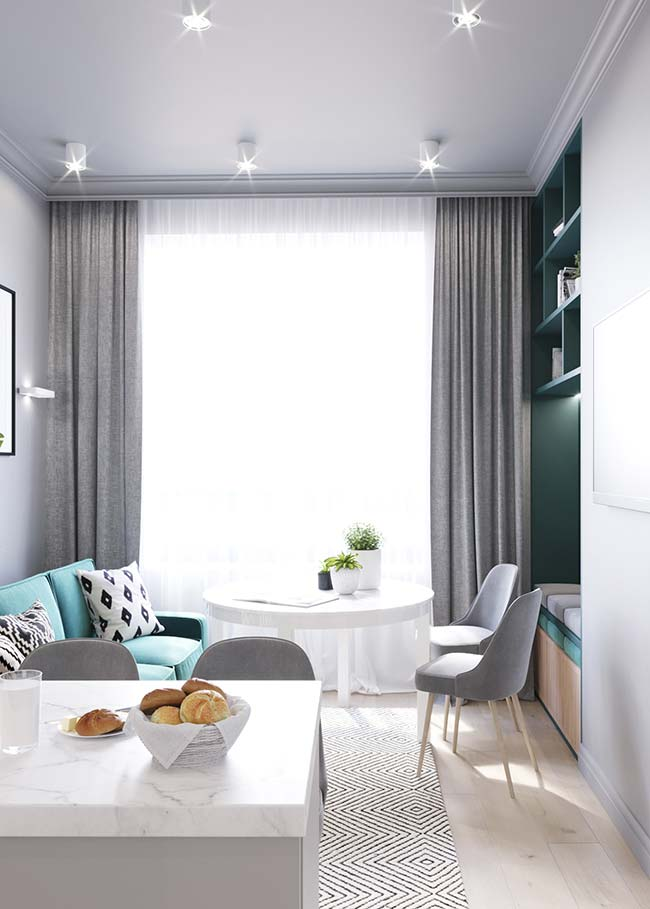 Proposta moderna para decoração de sala de estar