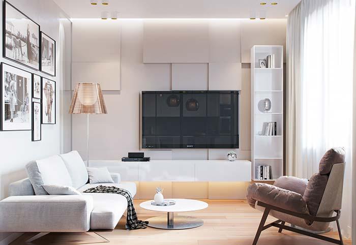 Decoração com abajur na sala de estar decorada