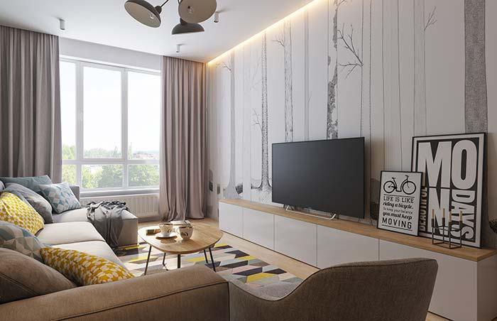 Papéis de parede para sala de estar decorada