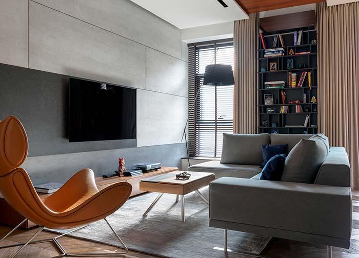 Uma luminária de chão e com design arrojado e moderno pode fazer milagres pela decoração da sua sala de estar decorada