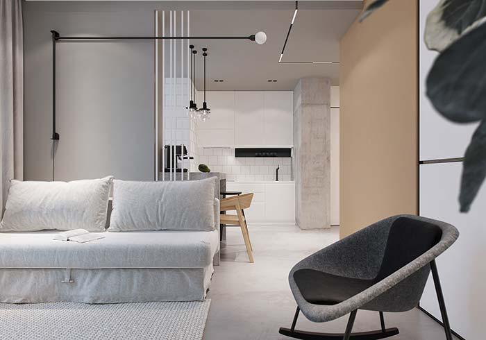 Sala de estar de apartamento decorado