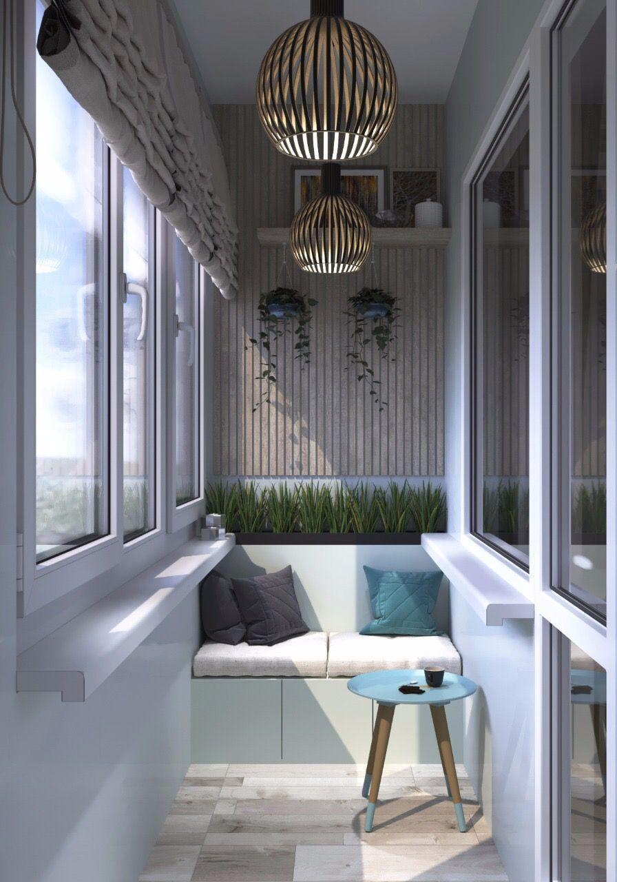 Varanda pequena de apartamento decorado com persiana