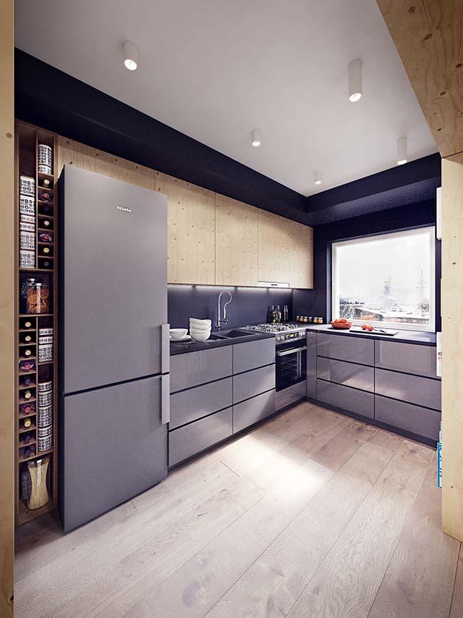 Valorize espaços pequenos eliminando tudo o que puder do chão e aproveitando ao máximo as paredes em apartamentos decorados